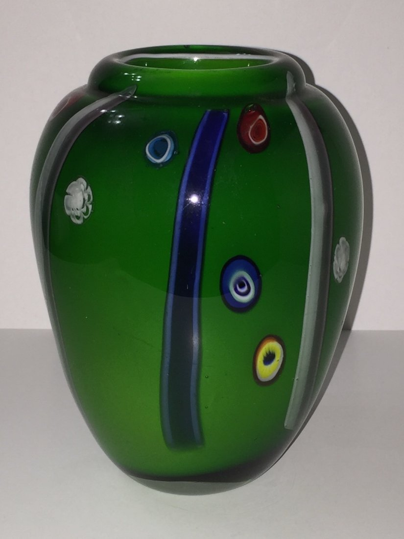 Stunning Heavy MURANO Art Glass Vase