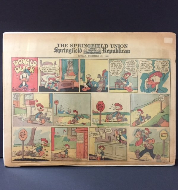 ) Rare 1942 Walt Disney DONALD DUCK Comic Strip