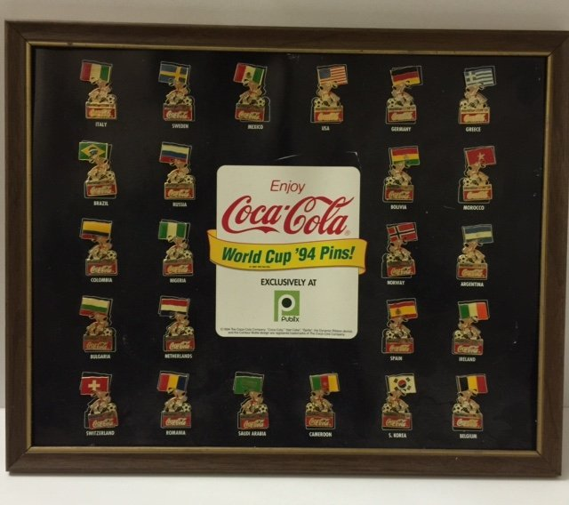 Complete Collection Coca-Cola 1994 World Cup Pins