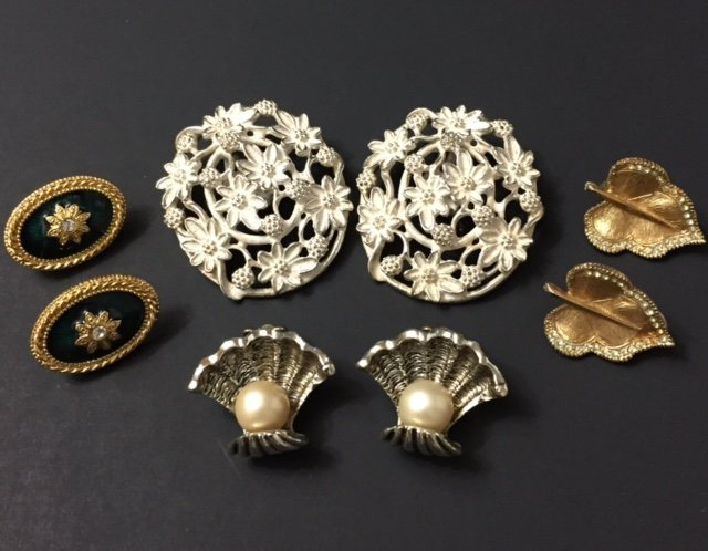 Lot of 4 Pairs of Vintage Signed Earrings/Jewelry