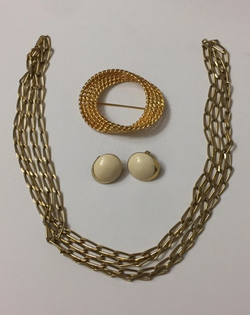 Lot of 3 Vintage Signed MONET Gold Filled Jewelry