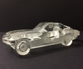 Awesome Signed Hofbauer German Crystal Car Jaguar