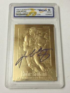 1996-97 Kobe Bryant 23kt Gold Gem 10 Rookie Card