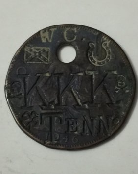 1946 Kkk Tennessee Klan Member Hammered Relic