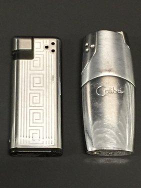 Lot Of 2 Vintage Colibri Butane Lighters