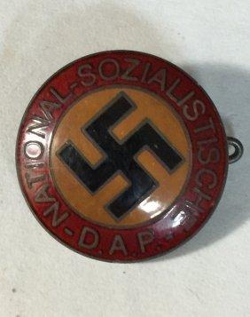 Nazi Germany Swastika Enameled Militants Lapel Pin