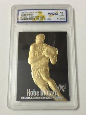 1996-97 Kobe Bryant 23kt Gold Bb 10 Rookie Card
