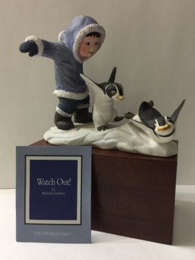 Franklin Mint Porcelain Penguin By Michelle Emblem