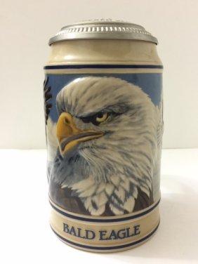 """Rare Signed Ceramarte """"bald Eagle"""" Beer Stein"""