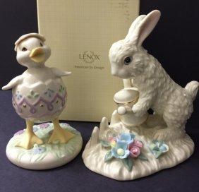 Lot Of 2 - Lenox Rabbit & Lenox Chickadee
