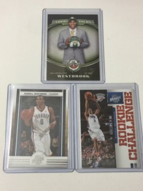Lot Of 3 Mint Russell Westbrook Rookie Cards