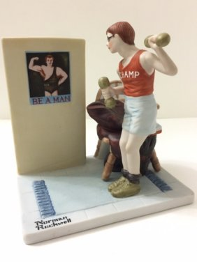 Large Porcelain Norman Rockwell Figurine