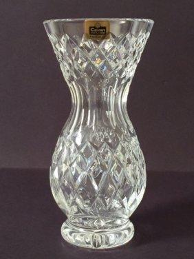 Rare Signed Cavan Dublin Ireland Cut Crystal Vase