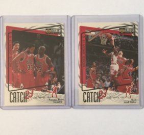 Lot Of 2 Early Rare Michael Jordan Catch 23 Cards