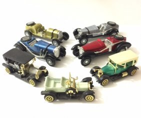 Lot Of 7 Early Made In Hong Kong Die-cast Cars
