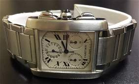Cartier Tank France's Chronograph Automatic Watch