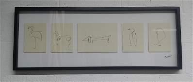 Framed Set of Picasso Prints