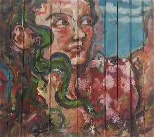 Oil On Wood Domingo Ravenet