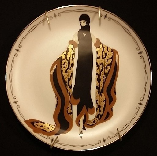 "Franklin Mint House of Erte ""Mystic"" Plate"