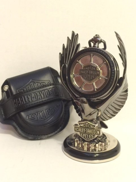 Licensed HARLEY DAVIDSON Pocket Watch w/Stand