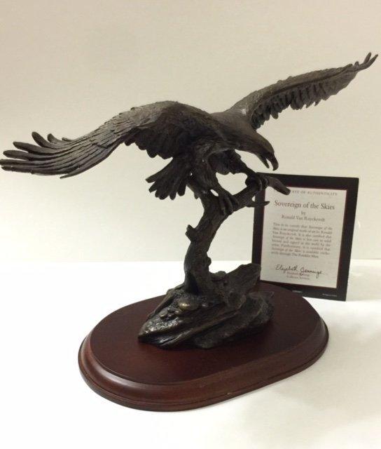 Solid Bronze EAGLE by Ronald Van Ruyckevelt w/COA