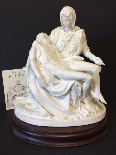 Signed Michelangelo's PIETA Porcelain Sculpture