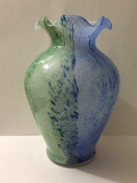 Large Italian MURANO Art Glass Vase - Great Colors