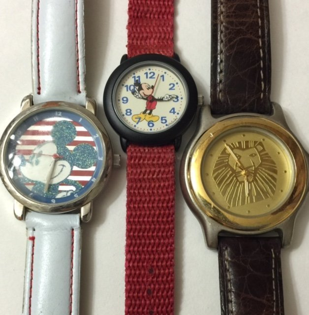 Lot of 3 Vtg. Official DISNEY Watches/READ BELOW