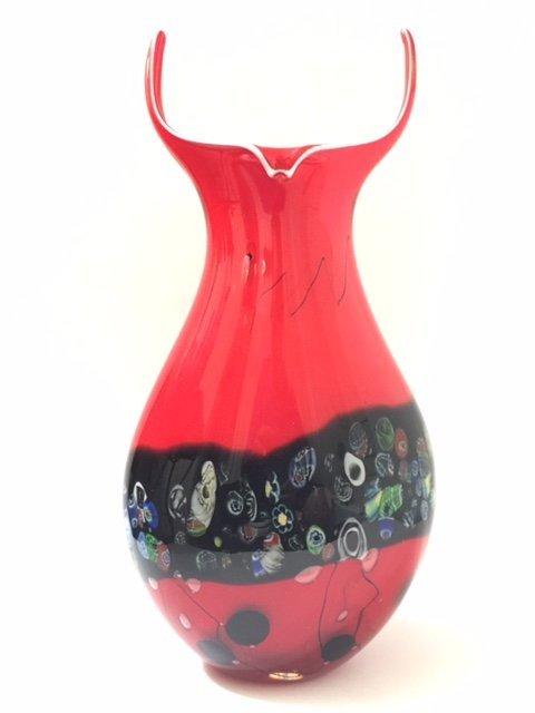 Stunning Heavy Italian MURANO Blown Art Glass Vase