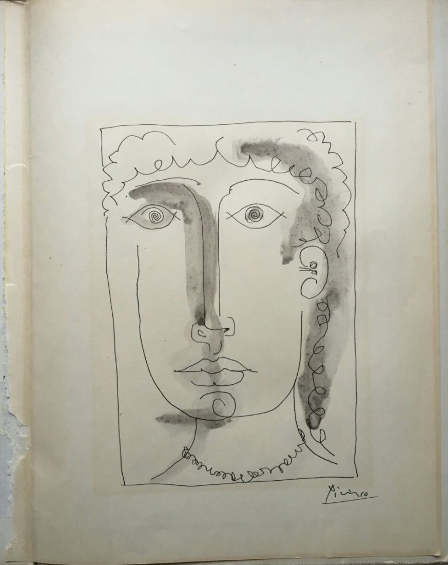 Mixed Media On Paper Signed Picasso