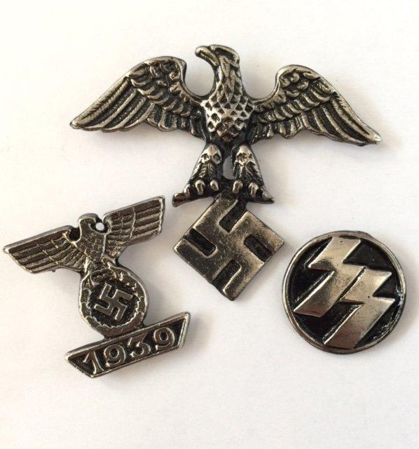 Lot of 3 German Nazi Swastika Insignia Ephemera