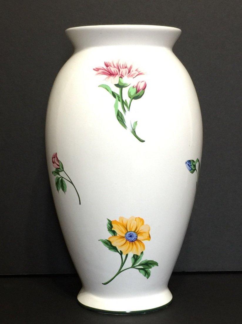 """Signed TIFFANY & CO Porcelain Floral Vase 11"""" TALL"""