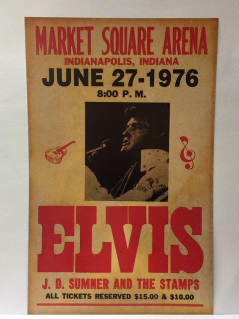 ELVIS PRESLEY Market Square Arena Concert Poster