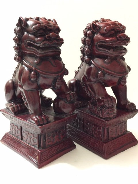Large Chinese Imperial Palace Guardian FOO DOGS