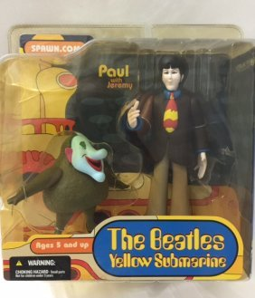 Vintage Beatles Yellow Submarine Figure By Spawn