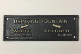 1931 Black Americana Cast Iron Segregation Plaque