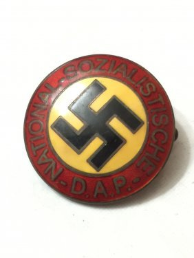 Nazi Germany Swastika Enameled Militants Lapel Pin