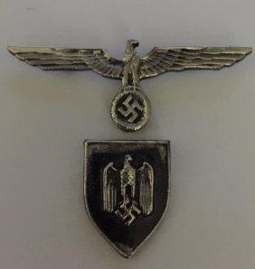 Lot Of 2 German Nazi Swastika Uniform Pins