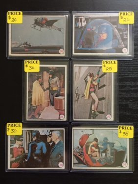 Lot Of 6 - 1966 Batman Tv Show Trading Cards
