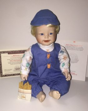 Rare Mcdonalds Porcelain Baby Doll W/box & Coa