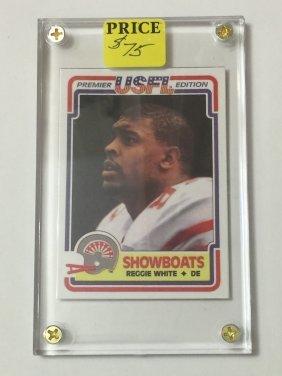 1984 Usfl Topps Reggie White Rookie Football Card