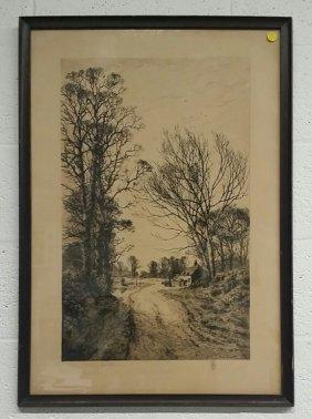 Fred Slocombe Etching, Pencil Signed