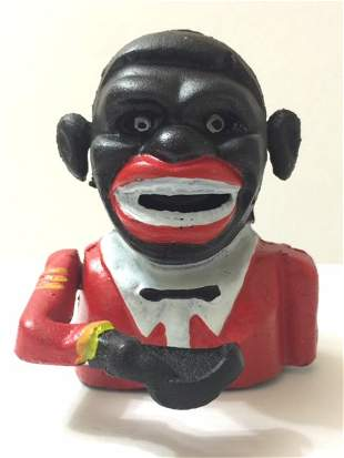 Vintage Black Americana Cast Iron Mechanical Bank