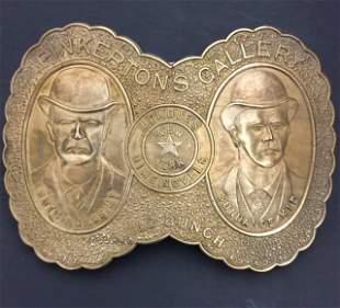 Rare Signed TIFFANY & CO Pinkerton's Belt Buckle