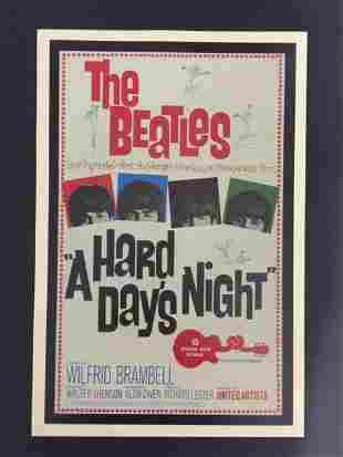 The BEATLES Movie Theatre Lobby Card Poster