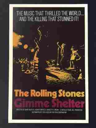 The ROLLING STONES Movie Theatre Lobby Card Poster