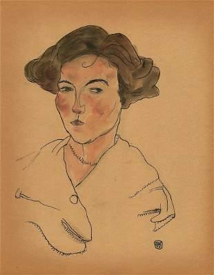 Attributed to: EGON SHIELLE (Austrian, 1890-1918)