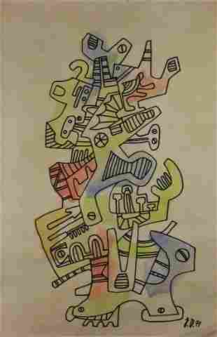 Attributed to: JEAN DUBUFFET (French, 1901-1985)