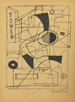 Attributed to: STUART DAVIS (American, 1894-1964)