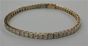 14k Gold & CZ Bracelet
